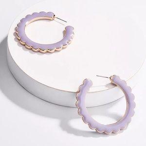 Baublebar Desideria Lilac Hoop Earrings!